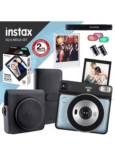 Fujifilm İnstax Sq 6 Aqua Blue Fotoğraf Makinesi Ve Mega Hediye Seti Renkli